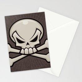 Skull and Crossbones Stationery Cards