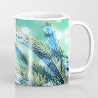 palm Mugs featuring palm by laika in cosmos