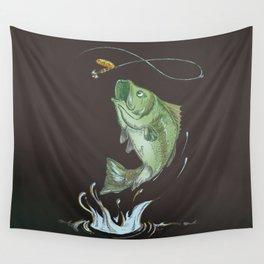 Bass Jumping At Night Wall Tapestry