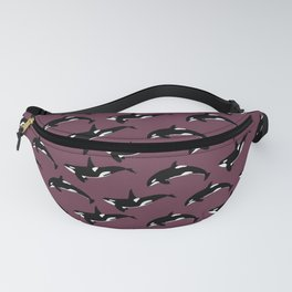 Orca Pattern: Mulberry Fanny Pack