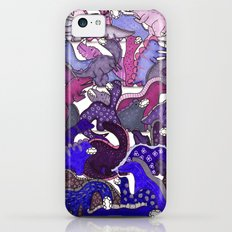 Purple Dinosaur Gradient Slim Case iPhone 5c