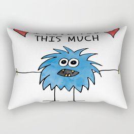 ab014-7 I love you this much Rectangular Pillow