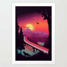 Passing Through Art Print