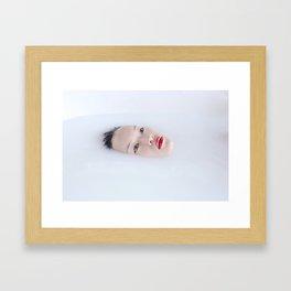 Le Milk Bath Framed Art Print