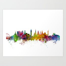 Glasgow Scotland Skyline Cityscape Art Print
