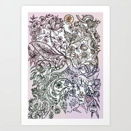 'a sort of emotional anemia.' Art Print