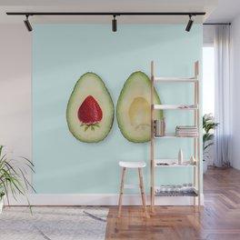 Avocado strawberries Wall Mural