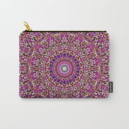 Colorful Girly Lace Garden Mandala Carry-All Pouch