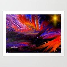 Solar winds Art Print