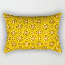 Orange Crush Retro Sunburst Print Seamless Pattern Rectangular Pillow