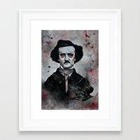 edgar allan poe Framed Art Prints featuring Edgar Allan Poe by Bella Harris