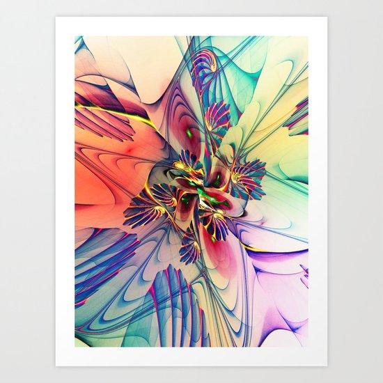Spiral Mania 8 Art Print