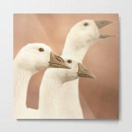 Family Portait goose Metal Print