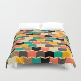 Retro abstract pattern Duvet Cover