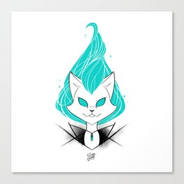 ScribbleNetty (Turquoise) Canvas Print
