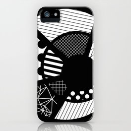 Twisted Web - Black And White, Patterned, Abstract Art iPhone Case