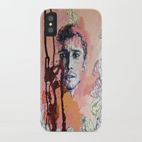 james franco iPhone & iPod Cases featuring James Franco by Katarzyna Typek