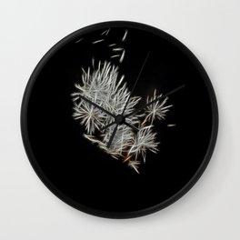 Silver Fireworks Wall Clock