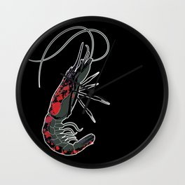 shrimp-U #II Wall Clock