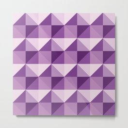 Purple shades of diamonds Metal Print