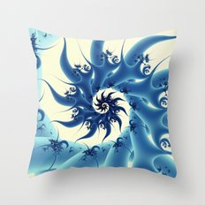 It's Blue, Swirly and Pointy! Throw Pillow