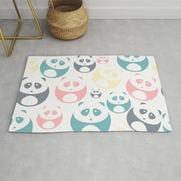 Kawaii Panda Pattern Rug