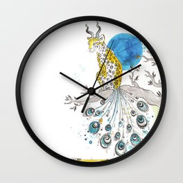 Sitting in the space between night and day Wall Clock