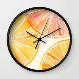 Sunny Citrus Wall Clock