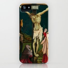 The Small Crucifixion by Matthias Grünewald iPhone Case
