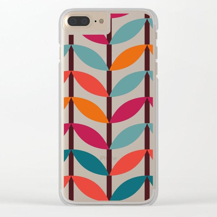Optical Overlap #1 Clear iPhone Case