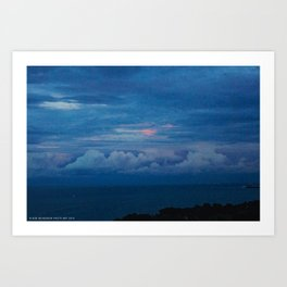Painted Sky at Dusk (Chicago Sunrise/Sunset Collection) Art Print