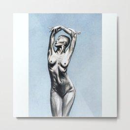 Nude Pastel Metal Print