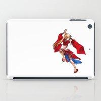 manga iPad Cases featuring Manga Hero by SpaceMonolith