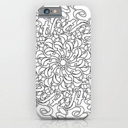 Just Breathe Line Art iPhone Case