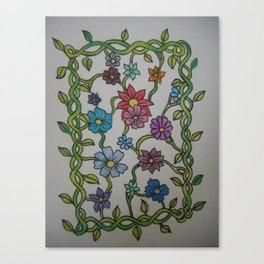 Showering Flowers Canvas Print