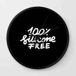 100  Silicone Free Wall Clock