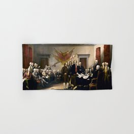 Signing The Declaration Of Independence Hand & Bath Towel