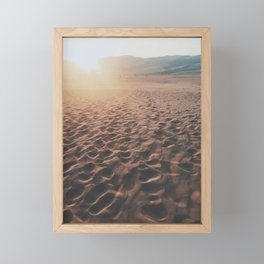 Desert Footprints Framed Mini Art Print