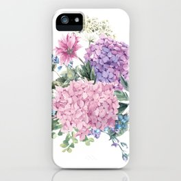 Summer Vintage Hydrangea iPhone Case