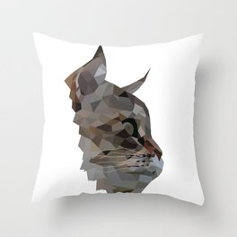 Geometric Cat Digitally Created Throw Pillow