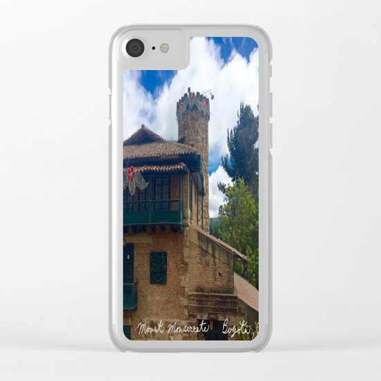 Mount Monserrate at Christmastime Maybe, Bogota, Colombia Clear iPhone Case
