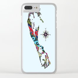 Bermuda Map Clear iPhone Case