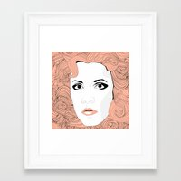 stevie nicks Framed Art Prints featuring Stevie by IN SEARCH OF GOOD THINGS