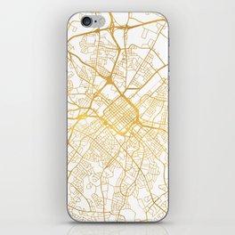 CHARLOTTE NORTH CAROLINA CITY STREET MAP ART iPhone Skin