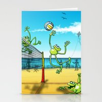 volleyball Stationery Cards featuring Olympic Volleyball Frog by Zoo&co on Society6 Products