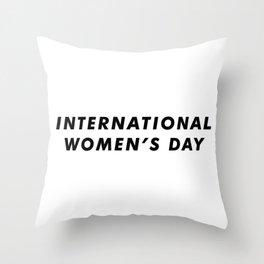 International Women's Day Aesthetic Throw Pillow