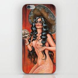 Day of the dead/ muertos pin up senorita iPhone Skin