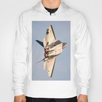 aviation Hoodies featuring Aviation F-22 Raptor Air Show USAF by Aviator