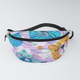 cute floral and bears pattern Fanny Pack