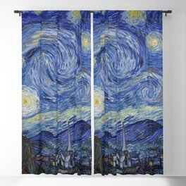 The Starry Night by Vincent van Gogh Blackout Curtain